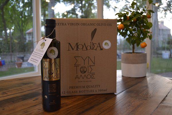 Schachtel Olivenöl