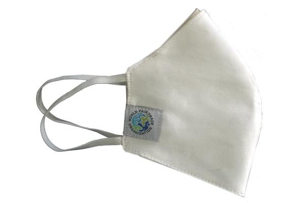 Fair Trade Mundschutzmasken weiss